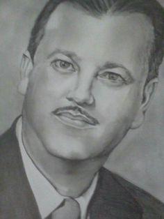 Retrato a lápis por Rosane
