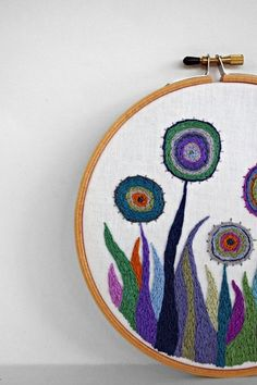 It's shameless, really ;) Yay for colorful embroidery hoops!