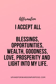 Daily Affirmations for abundance next level empowerment empowered women strong strength positivity growth self love goals success mindset think good things happy joy achievement quote mantra affirmation inspirational motivational fearless Daily Positive Affirmations, Positive Affirmations Quotes, Wealth Affirmations, Morning Affirmations, Law Of Attraction Affirmations, Affirmation Quotes, Positive Quotes, Forgiveness Quotes, Law Of Attraction Quotes
