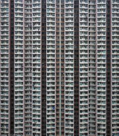 Hong Kong - Can you believe these are apartments where people live? The extreme scale of skyscrapers in one of the world's most densely populated places, perfectly captured by Photographer Michael Wolf Hong Kong, Serge Najjar, Michael Wolf, Urban Photography, Wolf Photography, Brutalist, Urban Landscape, Texture, Pictures