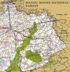 Daniel Boone National Forest - eastern Kentucky