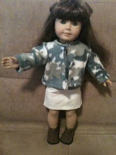 18 inch doll modeled by American Girl camouflage by peggysprozac