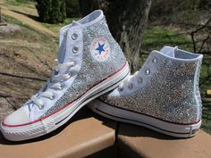 Rhinestone Converse HIGH TOPS -Not Including Shoes: Read Description- on Etsy, $210.00