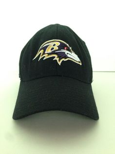 64eaf613de882 Authentic NFL Baltimore Ravens Equipment Reebok Ball Cap Curved Bill One  Size