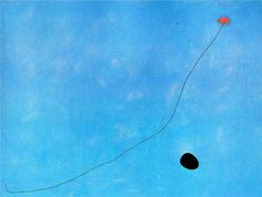 Blue II - Joan Miro - WikiPaintings.orgMiró held a special significance with this colour; to him this blue was a symbol of a world of cosmic dreams, an unconscious state where his mind flowed clearly and without any sort of order. This blue was the colour of a surreal, ethereal night, a night that embodied the only place where dreams could exist in their rawest state, untouched and uncensored by conscious, rational thought.