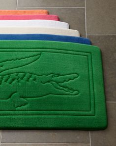 """Bath Rug, 21"""" x 34"""" by Lacoste at Horchow. - White - These have Memory Foam in them too like the ones from BBB but they are $20.93 right now!"""