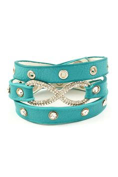Crystal Infinity Bracelet in Turquoise