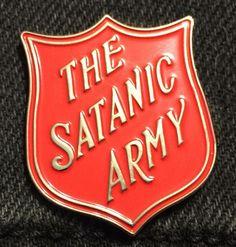 Satanic Army Soft Enamel Pin by BlackCloudCompany on Etsy