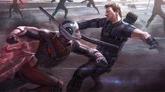 Ant-Man vs. Hawkeye in CAPTAIN AMERICA: CIVIL WAR Concept Art