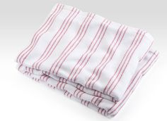 Carmen Red Cotton Stonington Blanket. Also available in Oyster, Island Blue, and Misty Blue.