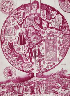 Map of Nowhere, purple variant etching by Grayson Perry, 2008