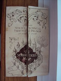 Harry Potter Paraphernalia: How to make a Marauder's Map