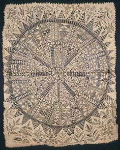 Traditional Niuean Hiapo (tapa cloth). One day I would LOVE to discover what each pattern represents. I think transferring these types of traditional taonga onto something we can better appreciate (seeing as most of these tapa are in WESTERN museums), like a tatau (tattoo), would be something to think about :)