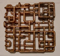 """""""Brooklyn-based artist/designer TJ Volonis makes the most amazing sculptures and furniture out of copper tubing."""""""