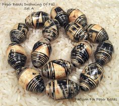 Paper Beads  Dreaming Of Fall Set A Olive by PassionForPaperBeads, $9.00