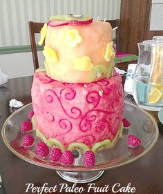 Perfect Paleo fruit cake Beautiful Fresh Fruit Cake - A cake made from watermelon and cantaloupe - how fun!