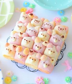 Decorated Bread by あいりおー Creative Desserts, Cute Desserts, Creative Food, Bento Recipes, Pureed Food Recipes, Cute Food, Good Food, Yummy Food, Kawaii Cooking