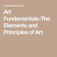 Art Fundamentals-The Elements and Principles of Art