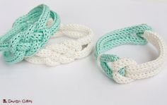 French knitted cotton bracelet  white and by LaMauvaiseGraine, €8.80