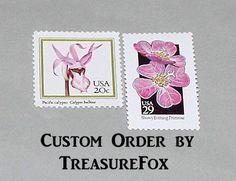 Reserved Custom Order for champangetaste .. Unused Vintage US Postage Stamps by TreasureFox on Etsy