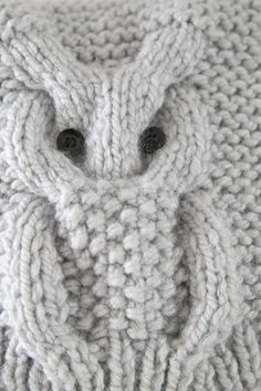 Discover thousands of images about Knitted owl Baby Cardigan Knitting Pattern Free, Baby Knitting Patterns, Lace Knitting, Knitting Stitches, Knit Crochet, Crochet Patterns, Knitting For Kids, Diy Crafts Knitting, Knitting Projects