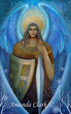 Archangel Michael by Amanda Clark. by earthangelsarts on Etsy