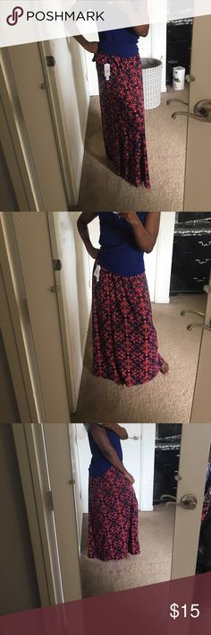 Maxi Skirt New with tag. Beautiful maxi skirt. Elastic band waist. Light and flowy. Perfect for a casual evening outing. Or dress it up for a festive occasion. Joe B Skirts Maxi