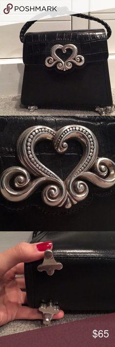 NWT Brighton Bag Genuine black leather Silver detailing Brighton Bags