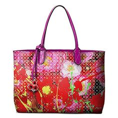 Our eye-catching limited-edition zippered totebag features detroit local artist dominic pangborn's classic red poppies design. The design is paired beautifully on our pink pangborn logo background. Our durable printed nylon canvas tote is coupled with magenta leather straps and trim. Each... see more details at https://bestselleroutlets.com/appliances/product-review-for-the-pangborn-collection-pangborn-collection-red-poppies-pink-womens-tote-bag/