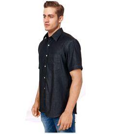Cobrio Black Casuals Slim Fit Shirt