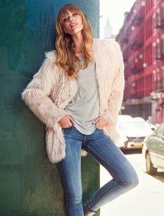 ファーコートで高級感をだして。H&Mのコーデ♪お買い物の参考にしたいスタイル・ファッションまとめ♪