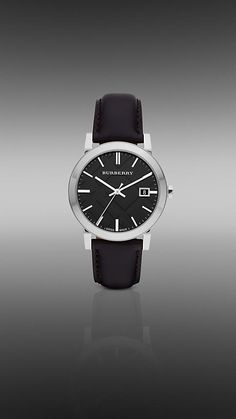 I don't own a watch, but if I did it would be this one - Burberry Black Leather Strap