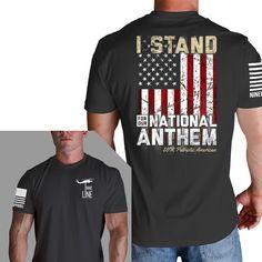 Nine Line Men's Navy I Stand For the National Anthem T-Shirt