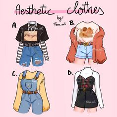 Cartoon Art Styles, Cute Art Styles, Retro Outfits, Outfits For Teens, Cute Outfits, Fashion Design Drawings, Fashion Sketches, Drawing Anime Clothes, Hair Sketch