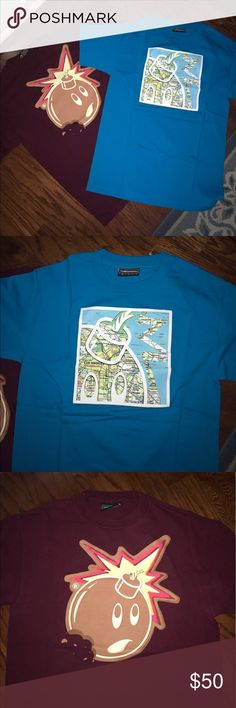 2 Size Medium The Hundreds T-Shirts 2 the hundreds graphic ts both worn two times each are in perfect condition no flaws The Hundreds Shirts Tees - Short Sleeve