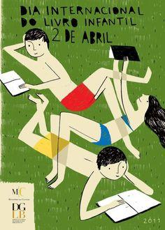 Affiche / Bernardo Carvalho, 2011 Dia Internacional do Livro Infantil