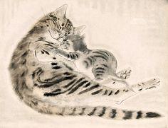 Cats, by Léonard Tsugouharu Foujita -- see also at: http://wasbella102.tumblr.com/post/32326564428/leonard-tsugouharu-foujita