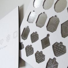 Diamond Christmas Ornaments - Laser Cut Mirror Geometric Jewels. $32.00, via Etsy.