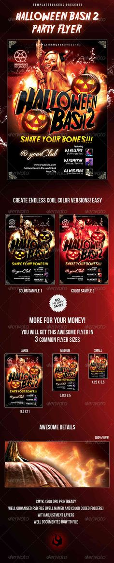 Halloween party Halloween Flyers  Posters Pinterest Halloween