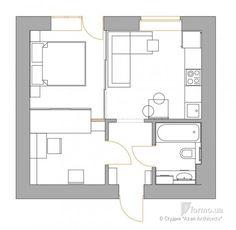 Планировка квартир и домов, нежилые интерьеры на Formo.ua Lofts, Small Apartments, Home Projects, Floor Plans, How To Plan, Interior Design, Studio, House, Home Decor