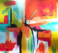 abstract art,expressionism art, acrylic painting, Heat Wave II #EasyNip