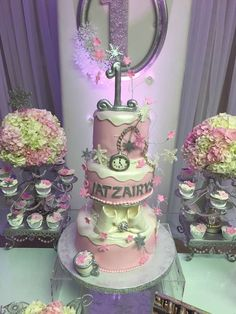 Stunning cake at a winter wonderland birthday party! See more party planning ideas at CatchMyParty.com!