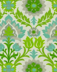 "reg $19.99, $13.99 30% off Outdoor Fabric, 54"" wide, Waverly Sun N Shade Outdoor Fabric- Santa Maria  Mint Julep"