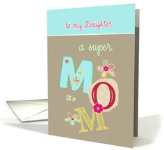 to my daughter, happy mother's day, letters