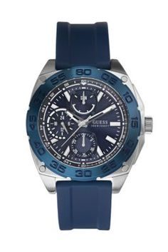 Blue and Silver-Tone Bold Sport Watch  ad4b734022