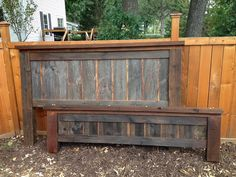 Vintage barn wood bed King size hand crafted heavy duty by MNBeds, $999.00. I want!!
