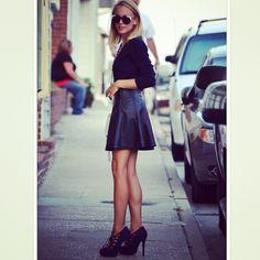 Ohhh I NEED a leather skirt.