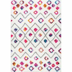 Viv + Rae Gwendolyn Geometric Pink Area Rug & Reviews | Wayfair