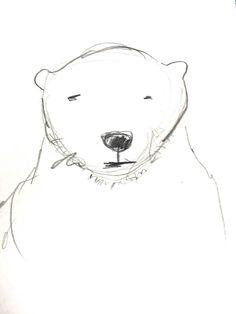 Bleistift-Skizze: Bär – Creative club