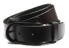 Standard Black Leather Belt